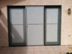 Gray solar screens and mill frame