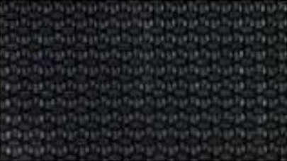 Closeup of black solar screen fabric