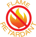 Flame retardant solar screen fabric