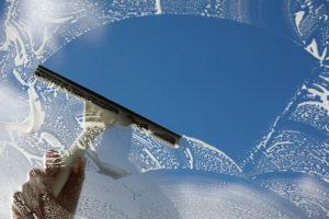Free exterior window washing