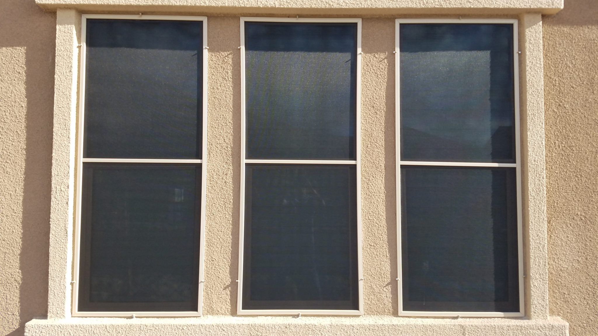 Triple double hung windows after