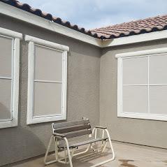 stucco solar screens white frames