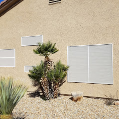 White solar screens for daytime privacy