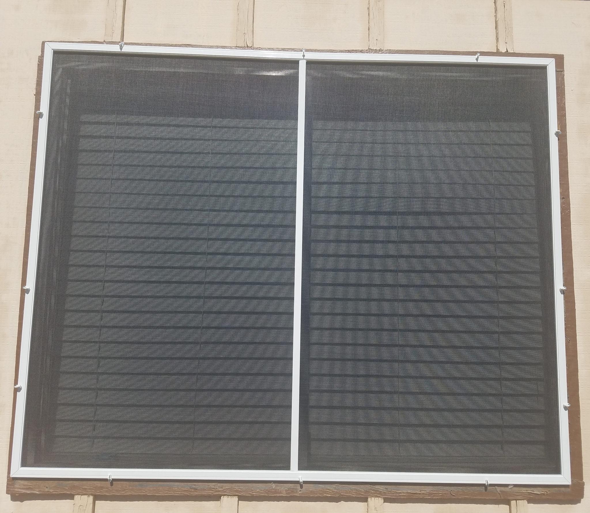 casement with 80% solar screen