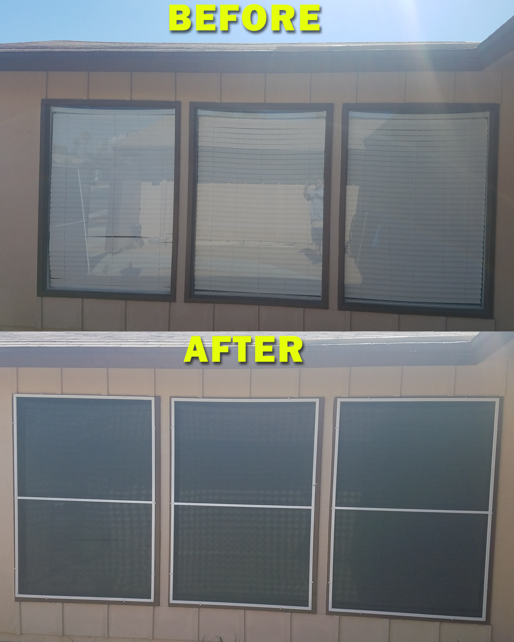 triple windows before and after