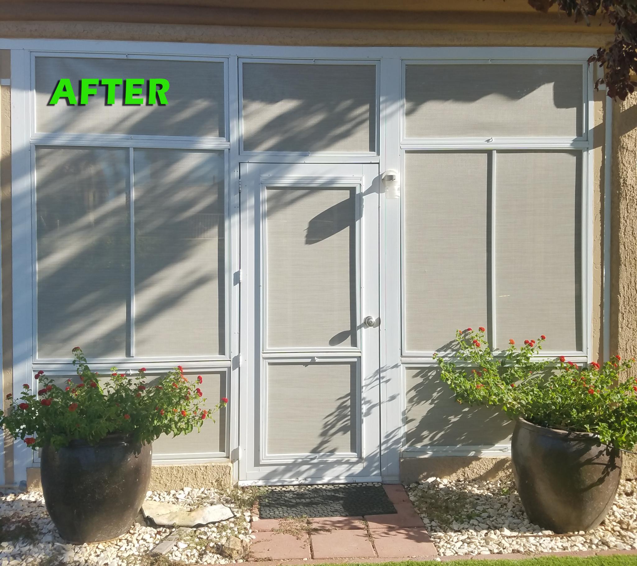 door and surround windows after