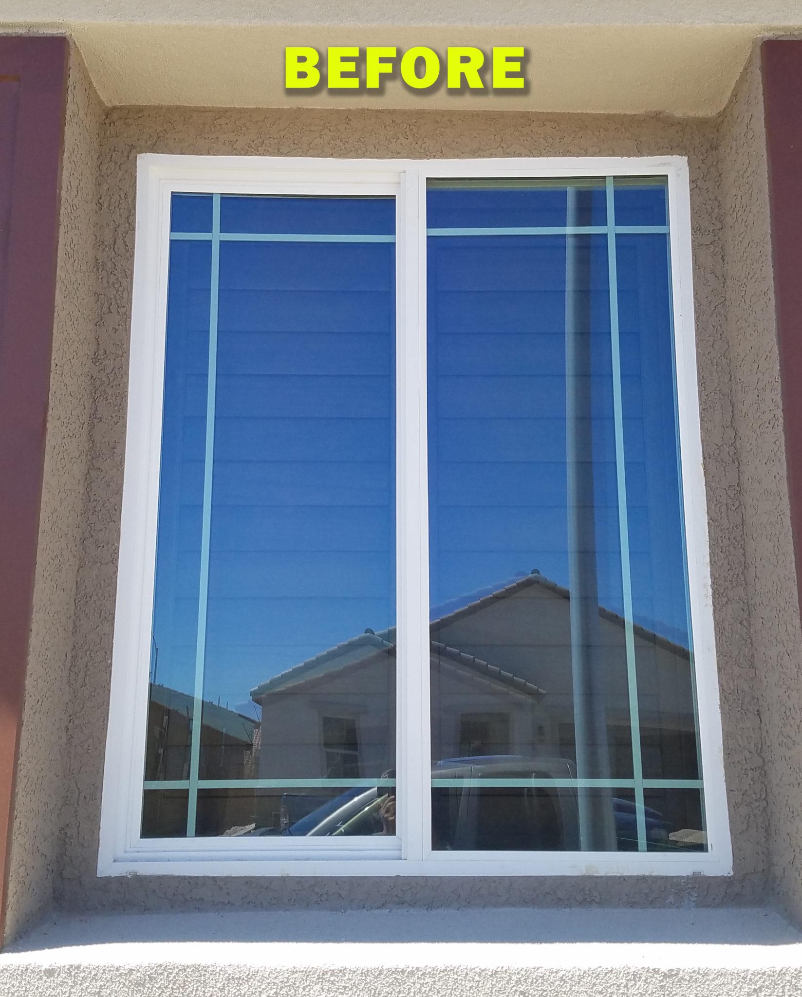 Tall casement window before