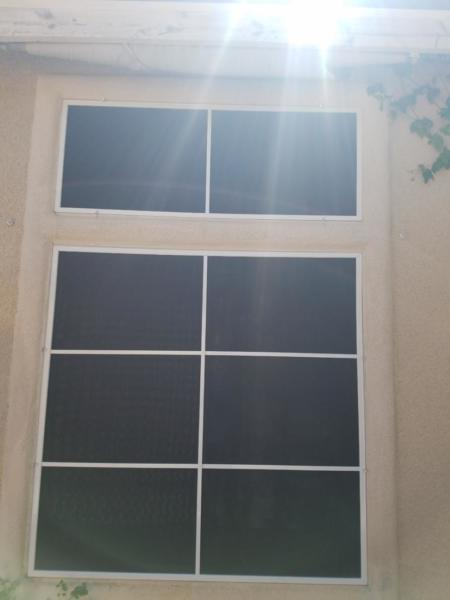 Solar screens offer a cohesive exterior look