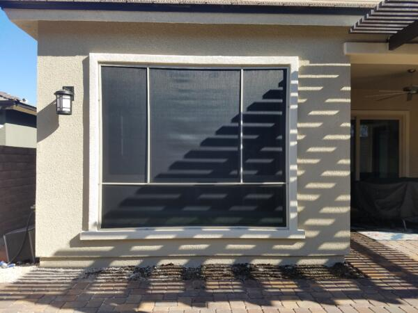 4 panel solar screen filtered sun