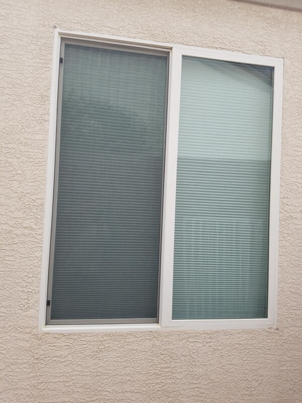Before and After Solar Screens - Casement