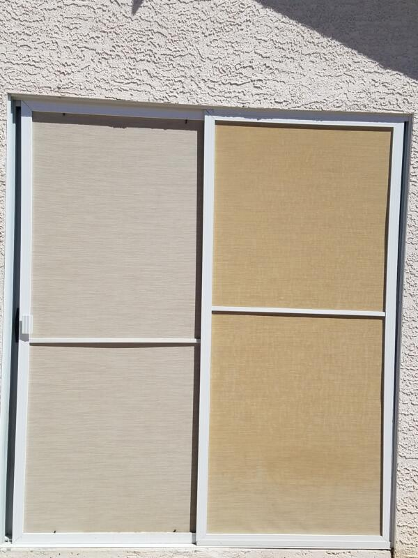 Before and after sand solar screens