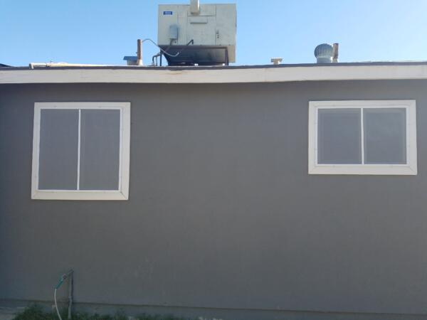 Gray Solar Screens with white frame