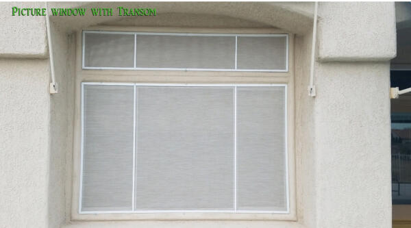 Picture window with transom