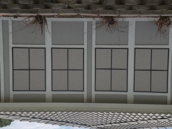 Sand solar screens with black panes