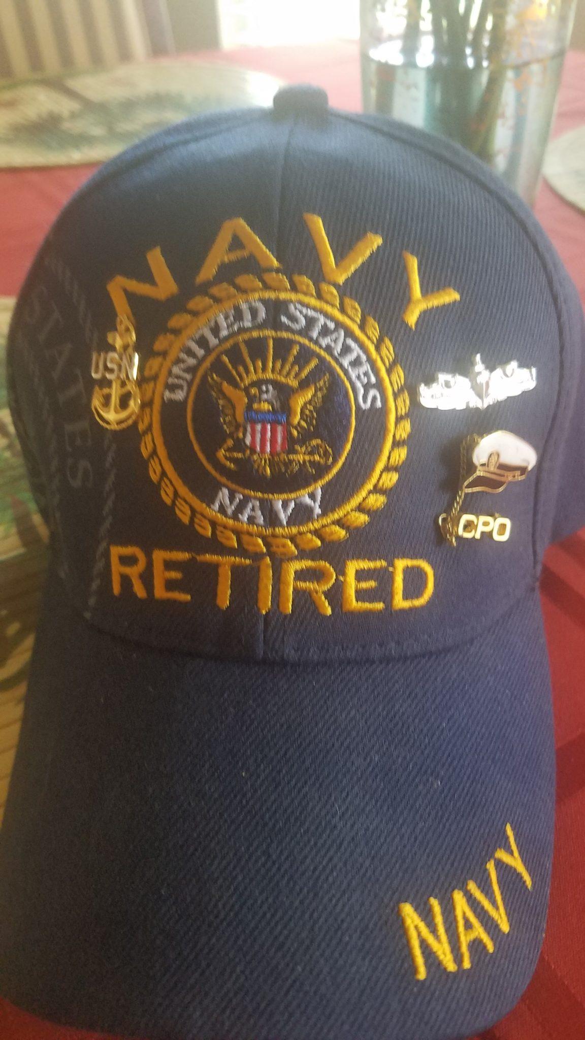 US Navy Retired ballcap